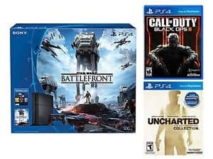 PS4 500GB Star Wars Battlefront Bundle + Uncharted: The Nathan Drake Collection + Black Ops III  $370 + Free Shipping