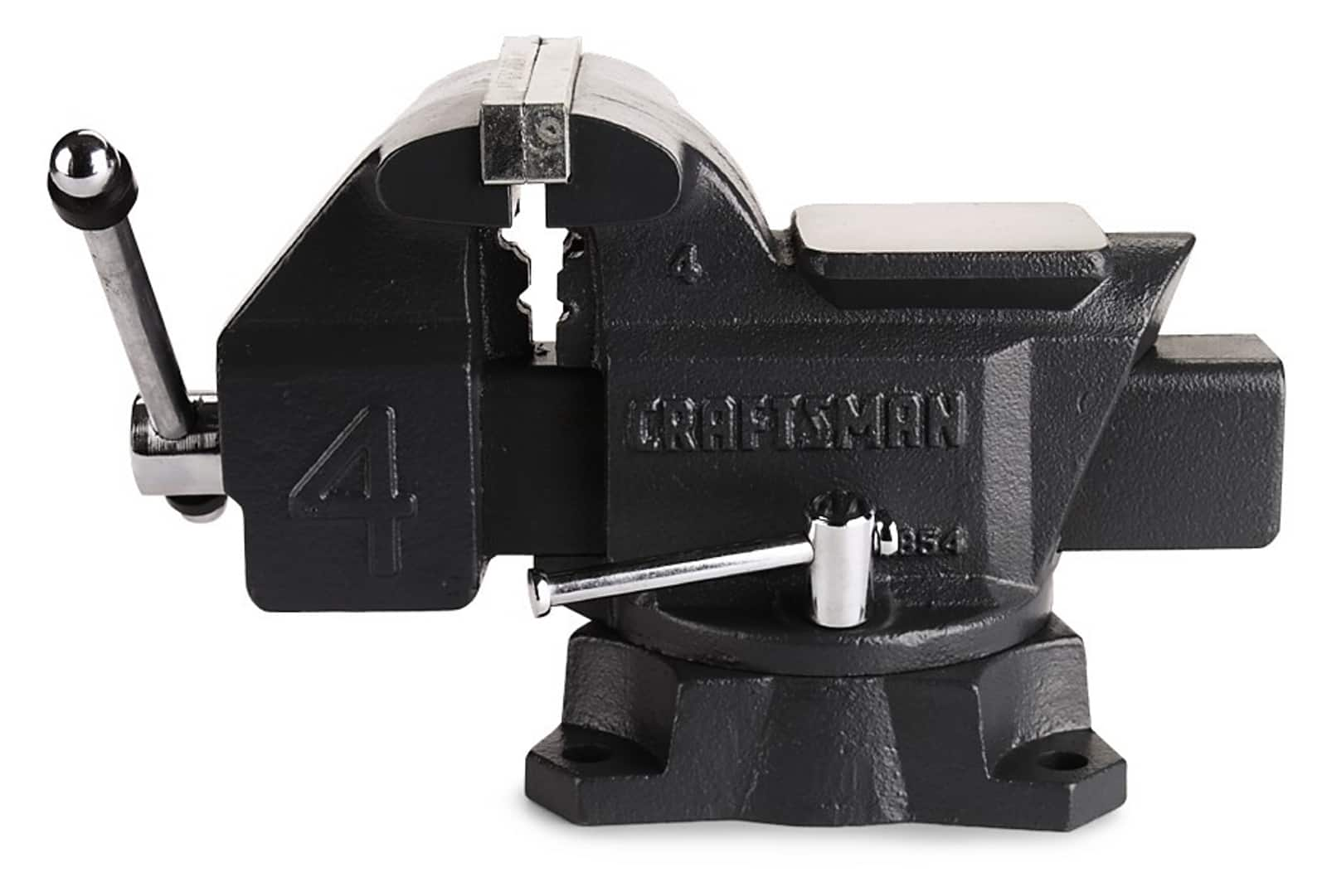 Craftsman 4 in. Bench Vise $29.99 (50% off), Free store pick up or free shipping with 94 cent filler