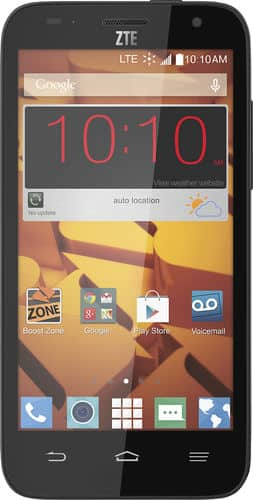 Boost Mobile ZTE Speed No-Contract Smartphone  $20 + Free Store Pickup