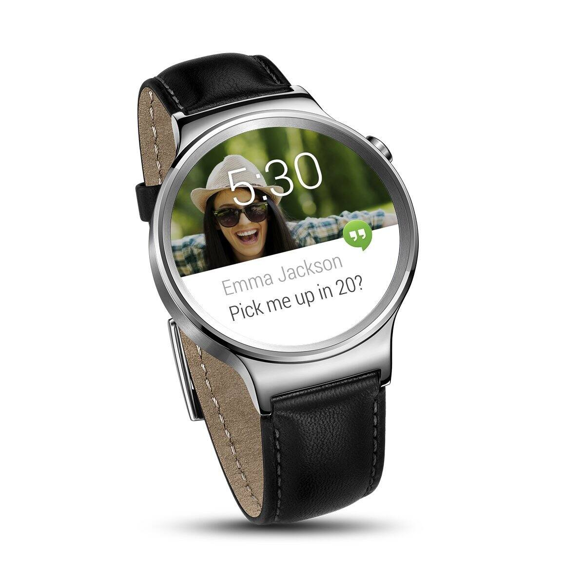 Huawei Smart Watches: Stainless Steel w/ Black Suture Leather Strap  from $270 & More + Free Shipping