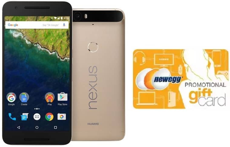 32 GB Huawei Nexus 6P Unlocked LTE Matte Gold Android 6.0 Smartphone + $75.00 Newegg Gift Card for $449.00 & More + Free Shipping @ Newegg.com