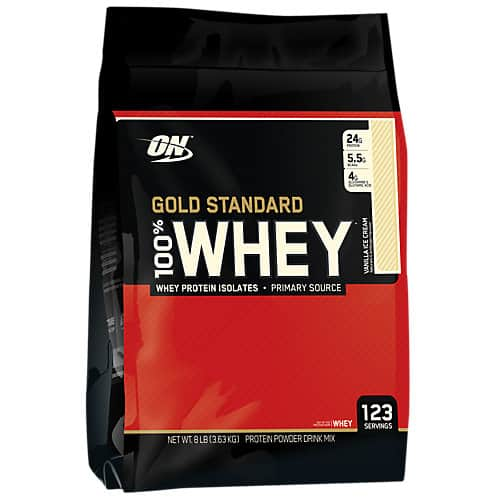 8-lbs Optimum Nutrition Gold 100% Whey Protein (Chocolate or Vanilla)  $65 + Free Shipping