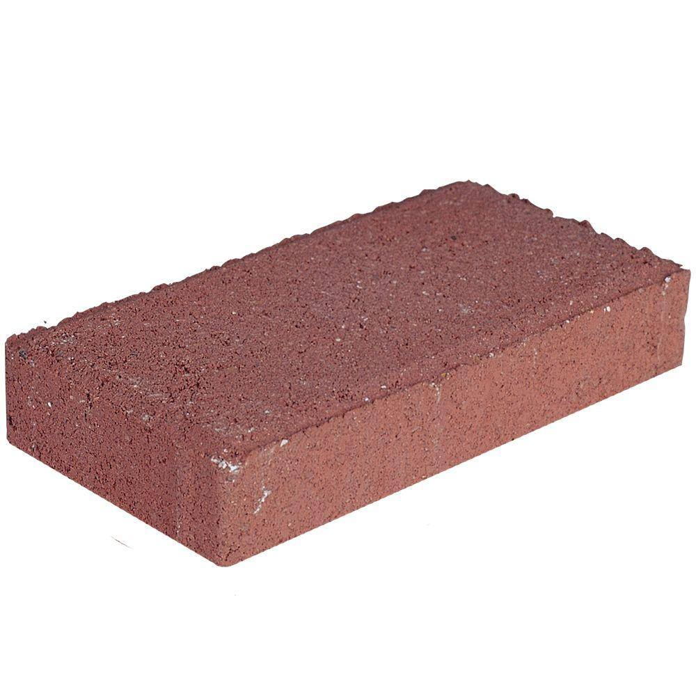 """Holland 4""""x8"""" Concrete Paver / Paving Stone (River Red or Old Town Blend)  $0.25 each + Free Store Pick-up"""