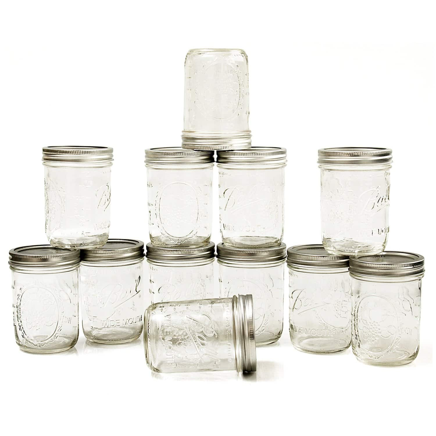 12-Pack of 16oz Ball Mason Wide-Mouth Jars  $8.50 + Free Store Pickup