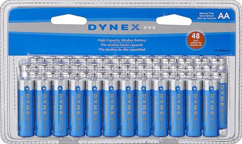 Dynex AAA/AA Batteries (48-Pack) Blue/Silver for $6.99 + Free Pickup (BestBuy)