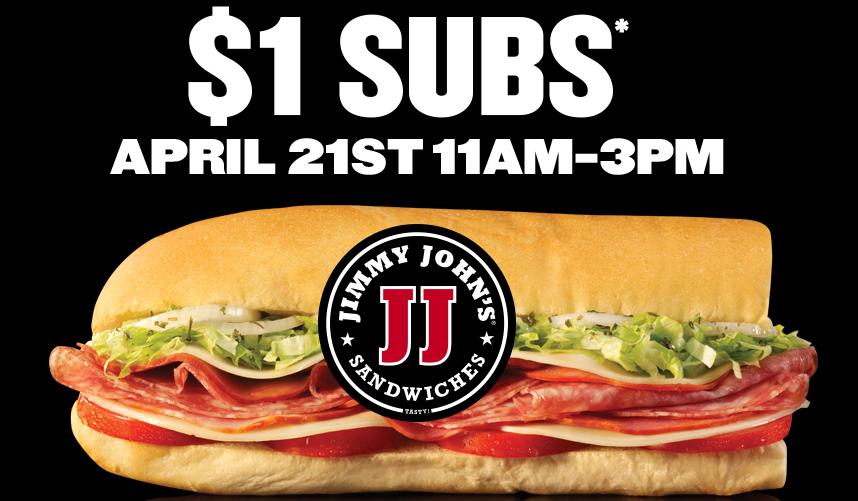 Jimmy John's Customer Appreciation Day $1 Subs