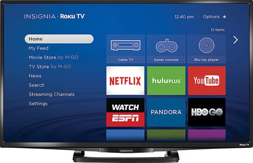 "32"" Insignia NS-32DR420NA16 1080p Roku Smart LED HDTV $169.99 + Free Shipping"