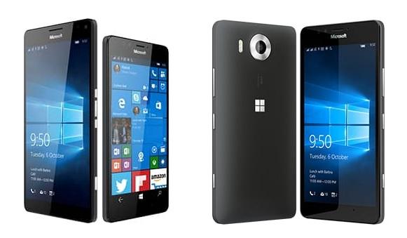 "2-Phone Bundle: 32GB Lumia 950 XL 5.7"" Unlocked + 32GB Lumia 950 5.2"" Unlocked  $649 + Free Shipping"