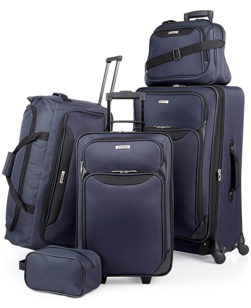 5-Piece Tag Springfield III Luggage Set (blue or red)  $60 + Free Shipping