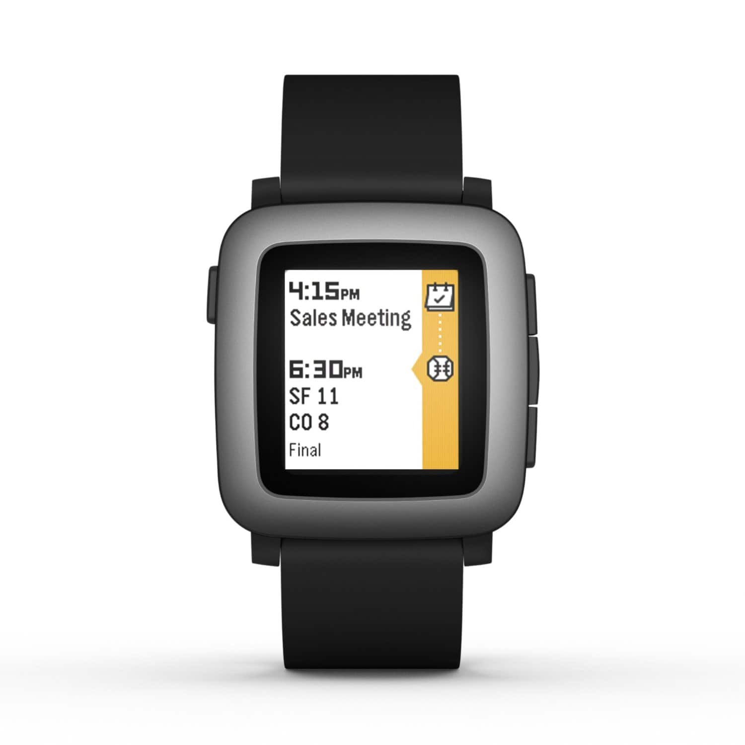 Pebble Time 38mm Smartwatch for Android/iOS Devices (black)  $100