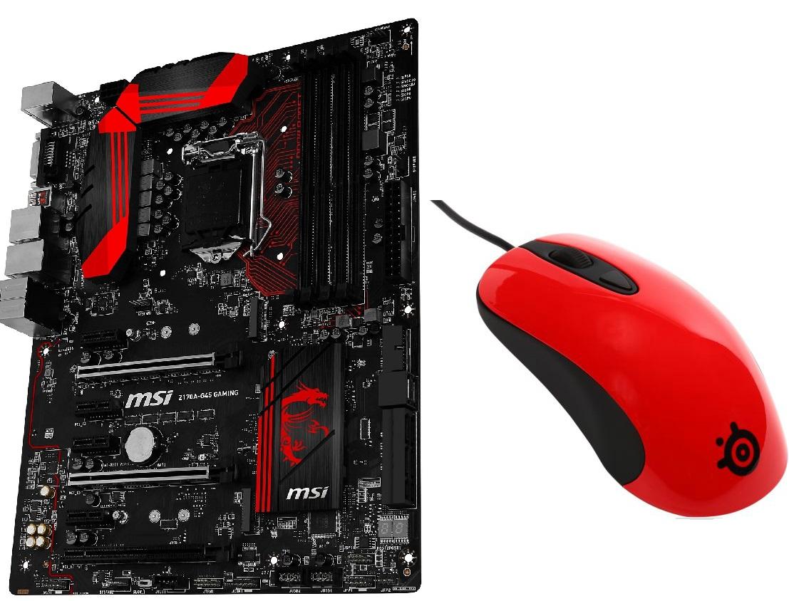 MSI Z170A-G45 Gaming LGA 1151 Intel Z170 HDMI SATA 6Gb/s USB 3.1/USB 3.0 ATX Intel Motherboard + SteelSeries KINZU V3 Gaming Mouse (M-00002) for $119.99 AR + S&H @ Newegg.com