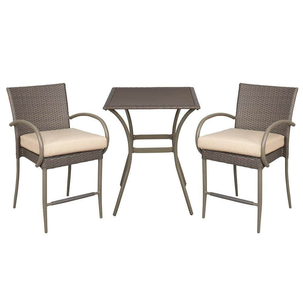 3-Piece Bistro Set by Hampton Bay $137 with free shipping