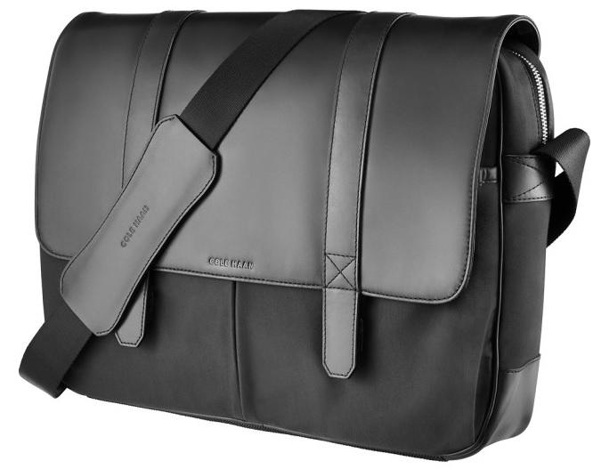 Cole Haan Leather/Nylon Messenger Bag (black)  $50 + Free Store Pickup