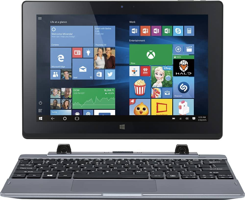 "Acer 2-in-1 10.1"" tablet/laptop Win 10 32gb 2gb Ram $99.99 Free ship at Newegg (Refurb)"