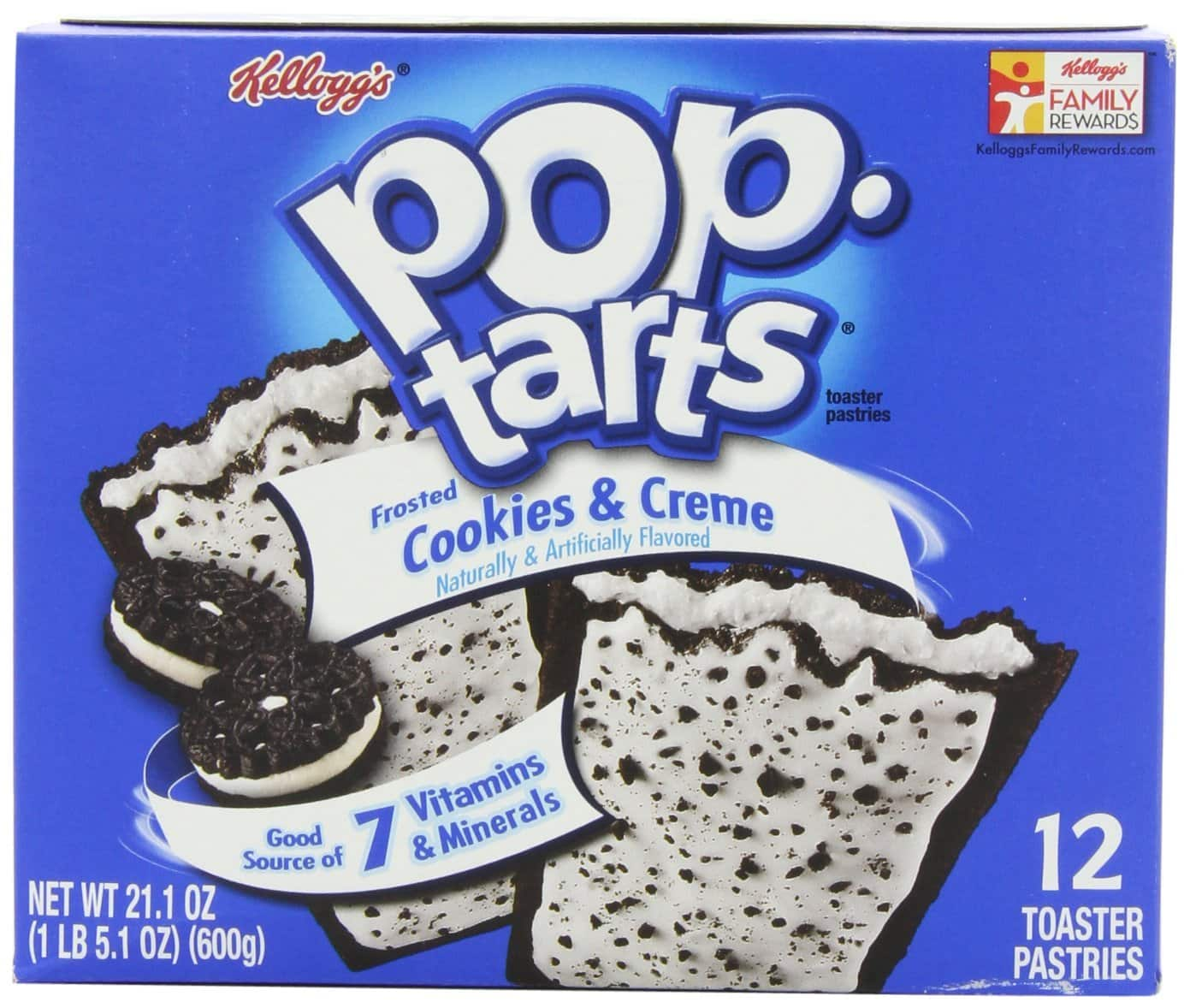 Pop-Tarts, Frosted Cookies & Cream, 12-Count Tarts (Pack of 6) $8.64 or less + free shipping