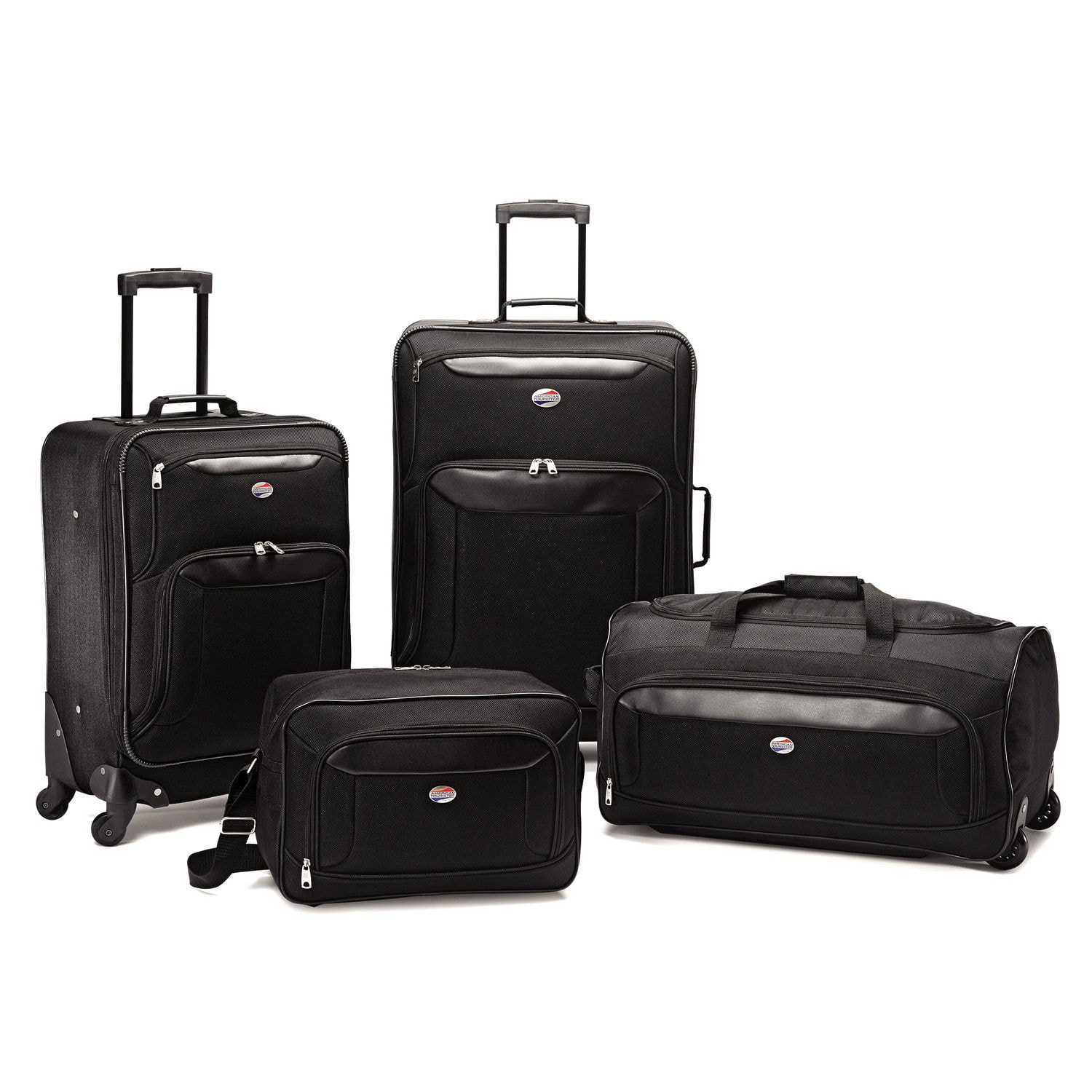 4-Piece American Tourister Brookfield Luggage Set (Navy Blue or Black) $75 + Free Shipping