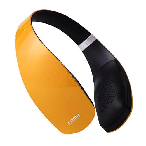 Leme Wireless Bluetooth 4.1 Headphone w/ Leather Earpieces  $15 + Free Shipping