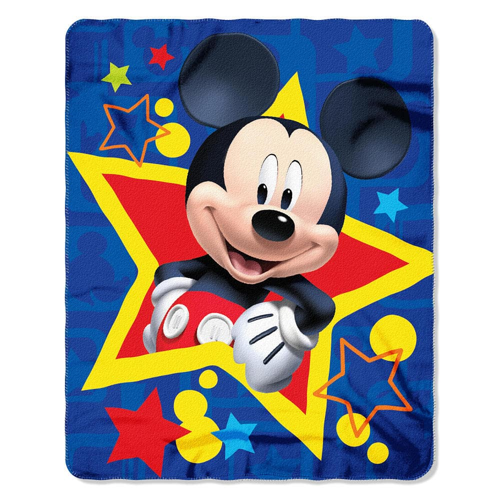 """Disney 40""""x50"""" Fleece Throw: Mickey Mouse, Minnie Mouse, Cars, Princesses $4.99 + Free In-Store Pick Up or w/ Shoprunner *Back for Less*"""