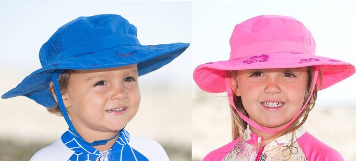 2-Pack Sun Protection Zone Kids' Safari Boonie Beach Hat (choose blue or pink)  $9 + Free Shipping