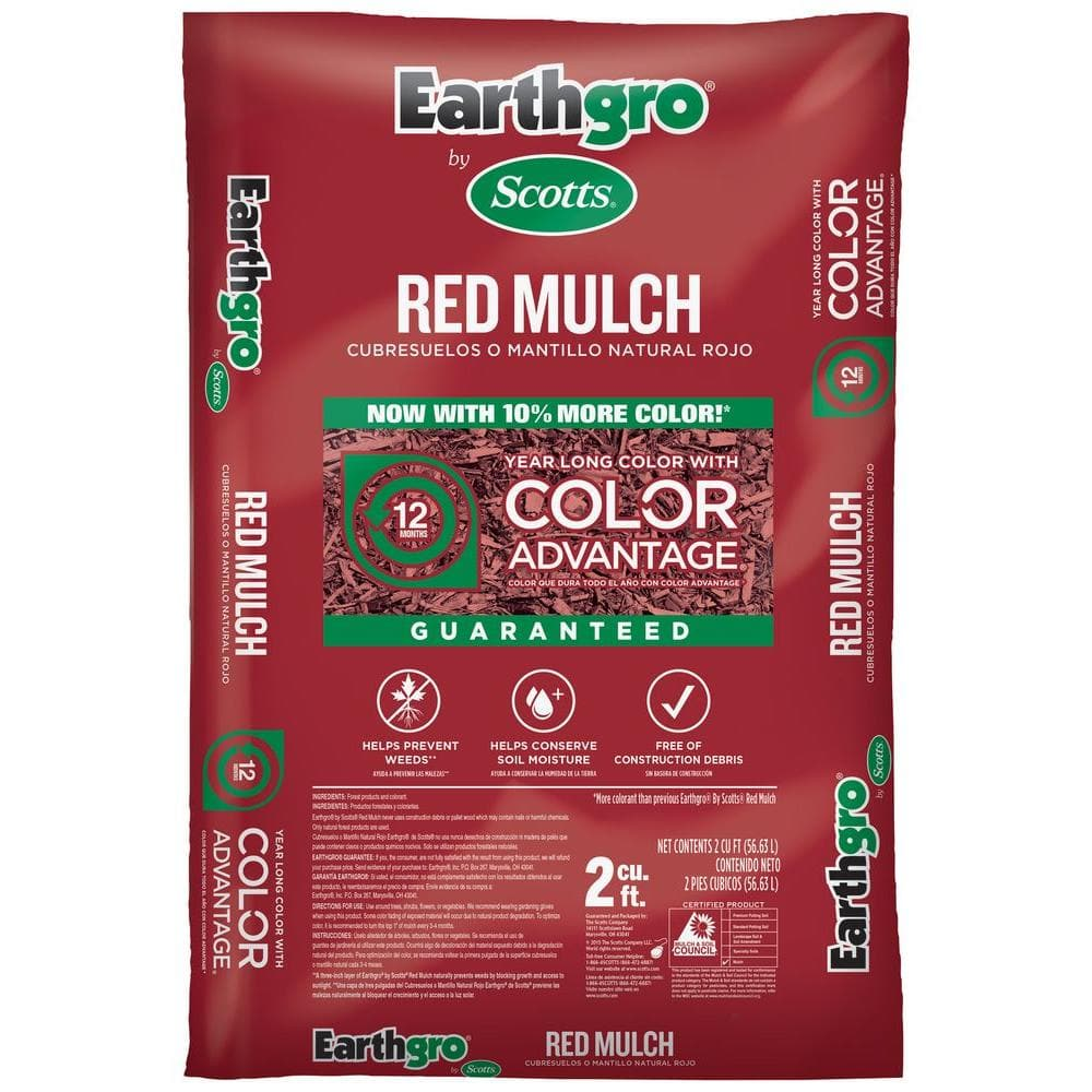 Scotts EarthGrow Mulch (2 cu. ft.) in Brown, Red or Black $2 + Free Store Pick-Up