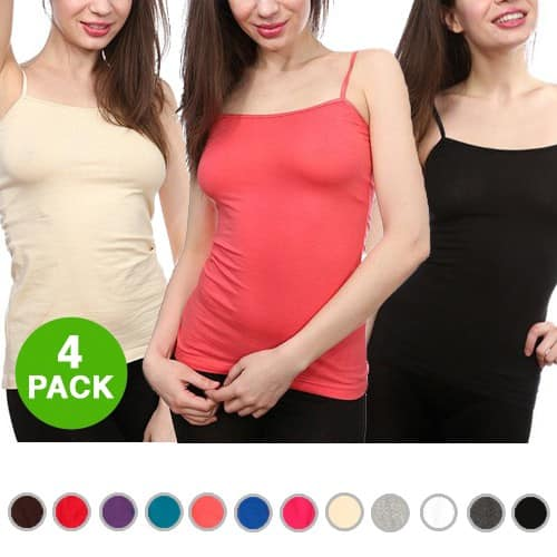 4-Pack Ambiance Apparel Lycra Tank Tops w/ Adjustable Straps  $5.50 + Free Shipping
