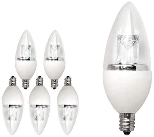 6-Pack TCP 5000k Dimmable LED with Candelabra Base for $17.99 is back at Amazon