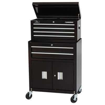 """Husky 26"""" 6-Drawer Ball Bearing Rolling Tool Chest & Cabinet Set - $99 at Home Depot"""