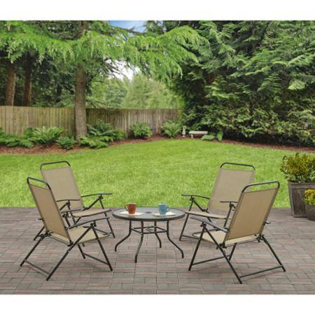 5-Piece Mainstays Albany Lane Folding Seating Set $79 at Walmart