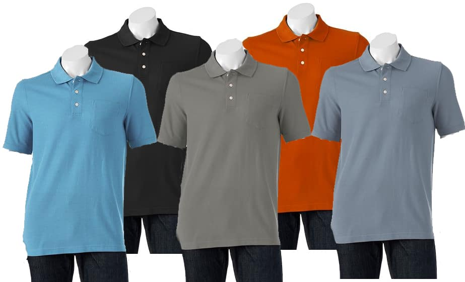 Kohls Cardholders: Men's Croft & Barrow Easy-Care Classic-Fit Pocket Polo 5 for $24.46 + Free Shipping ($4.89 each when you buy 5)