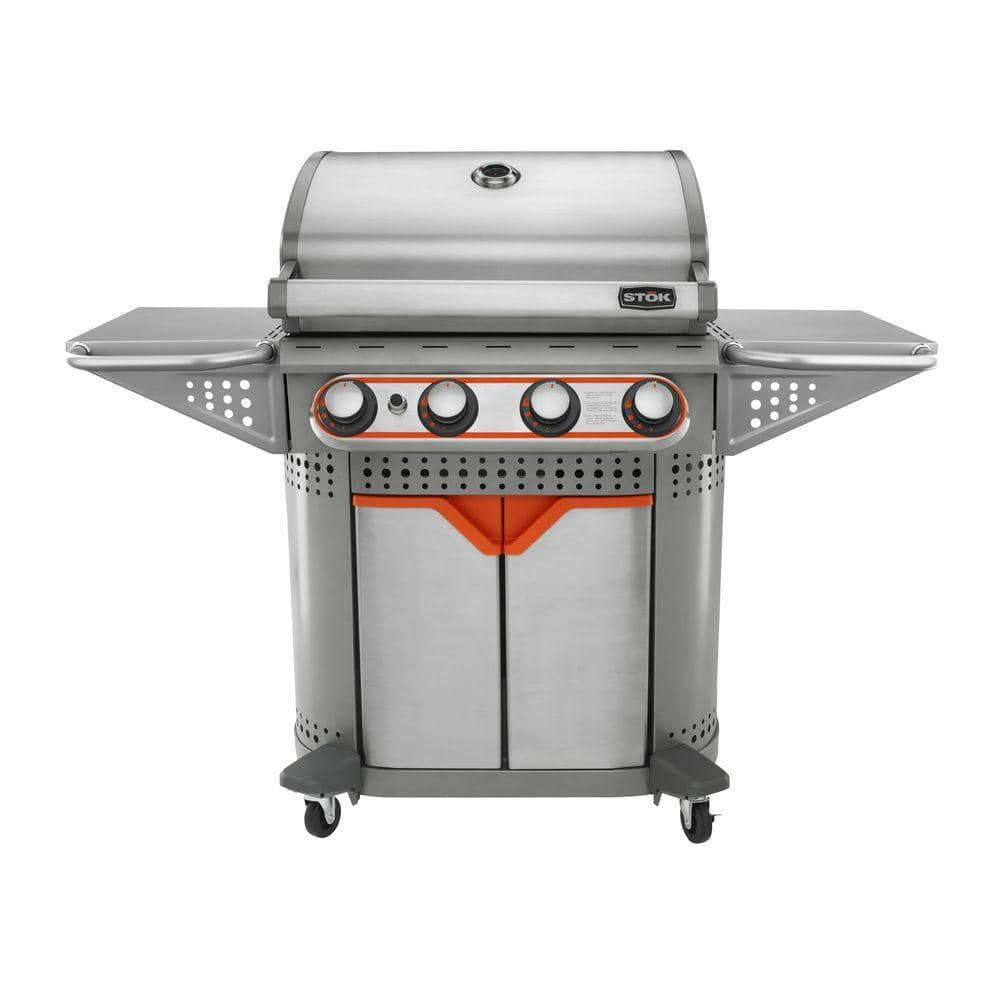 Home Depot: STOK Quattro 4-Burner Propane Gas Grill w/ 3-Grill Inserts (48,000 BUTs) - $199 Plus Free Ship-to-Store