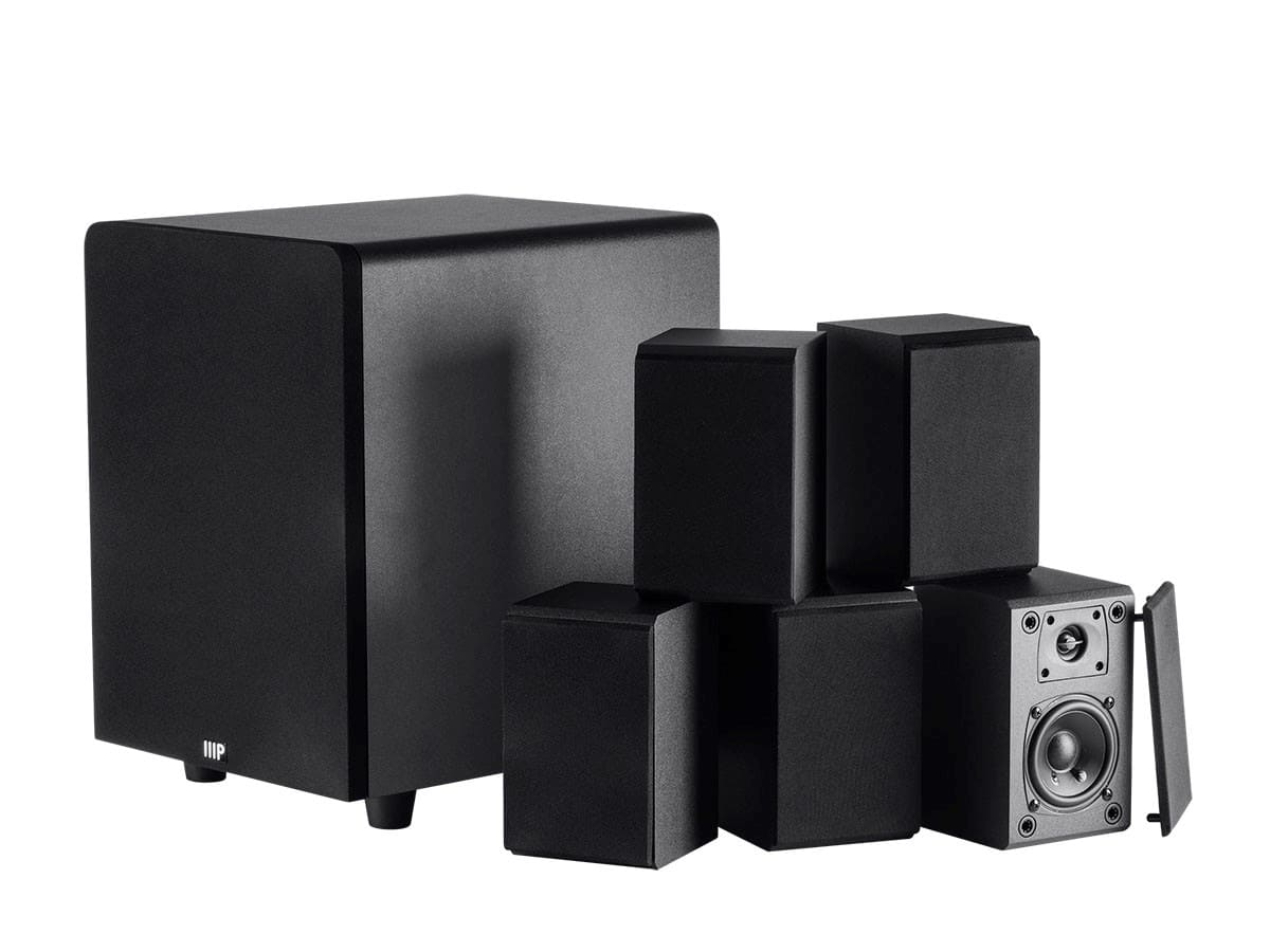 Monoprice Premium Select 5.1 Channel Home Theater Satellite Speakers & Subwoofer $99 Free Shipping