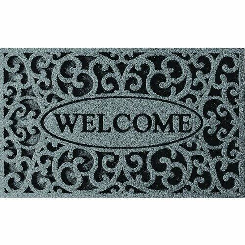 "Apache Mills 18""x30"" Welcome Iron Graphite Door Mat $8.24"