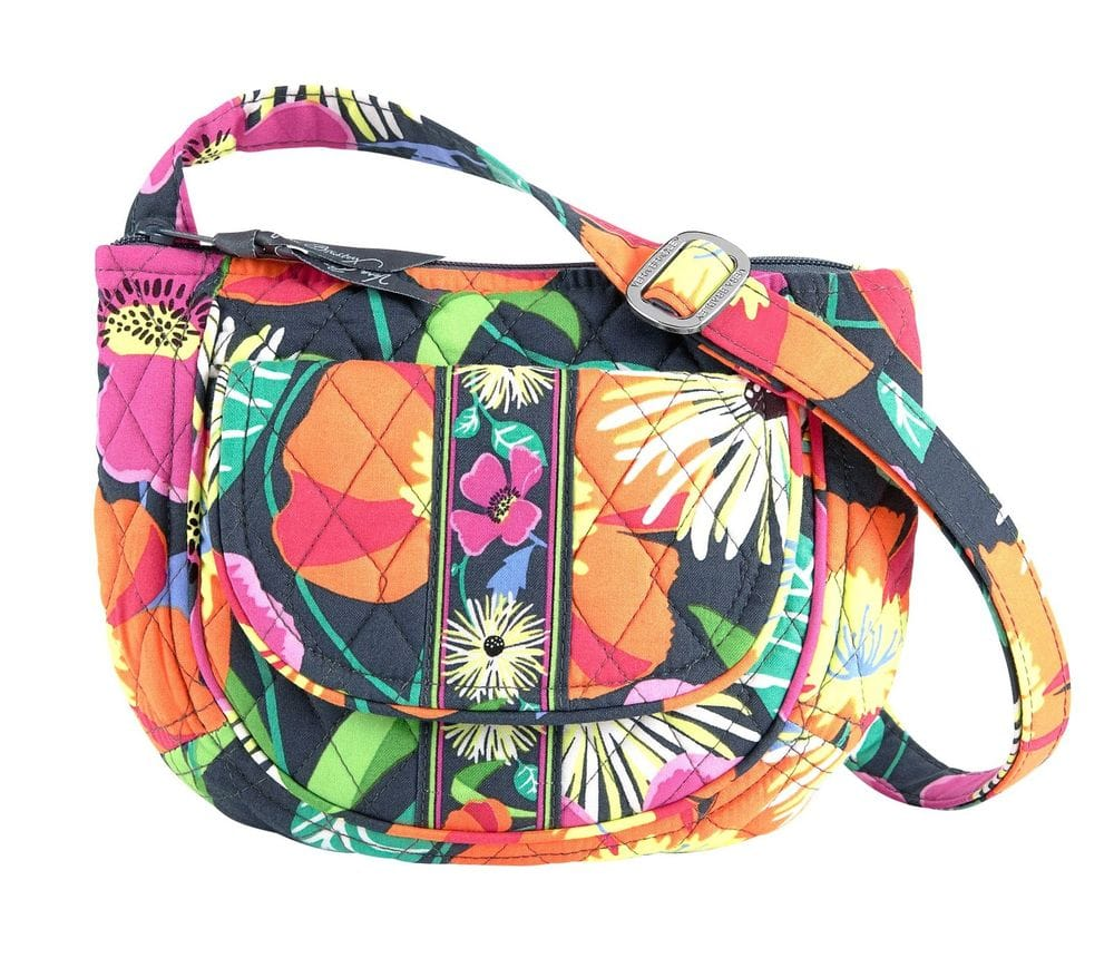 Vera Bradley Lizzy Crossbody Bag in Jazzy Blooms $9.59 + free shipping
