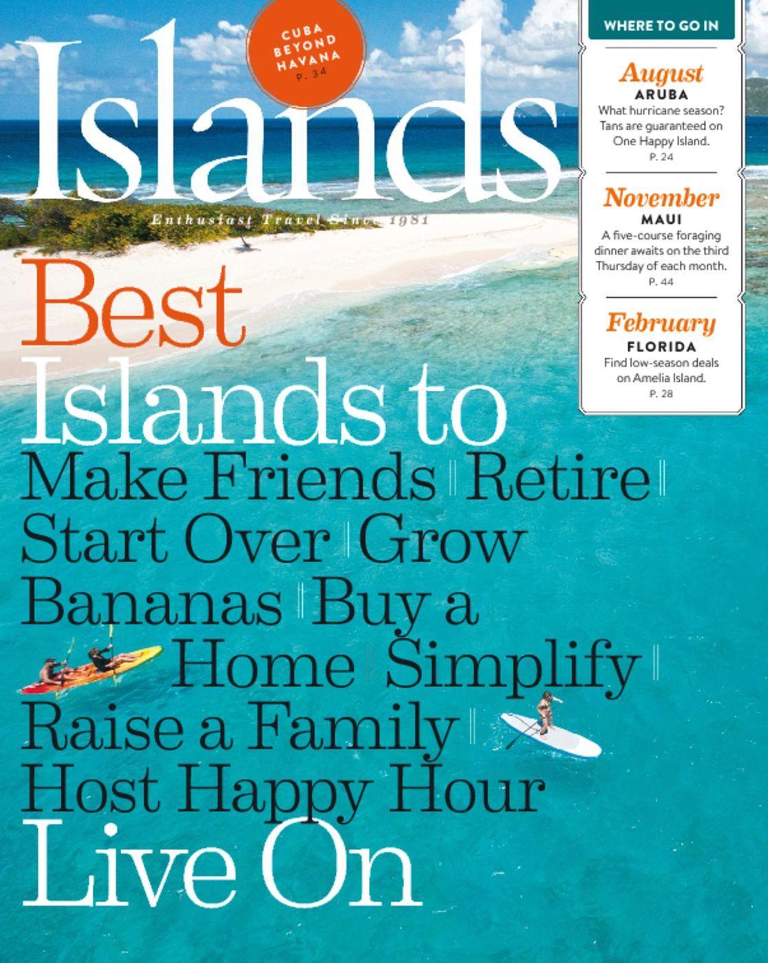 Islands Magazine $4.99/1yr, $8.99/2yrs, $12.99/3yrs