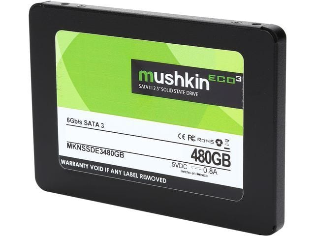 "480GB Mushkin Enhanced ECO3 2.5"" SATA III TLC Solid State Drive  $80 + Free Shipping"