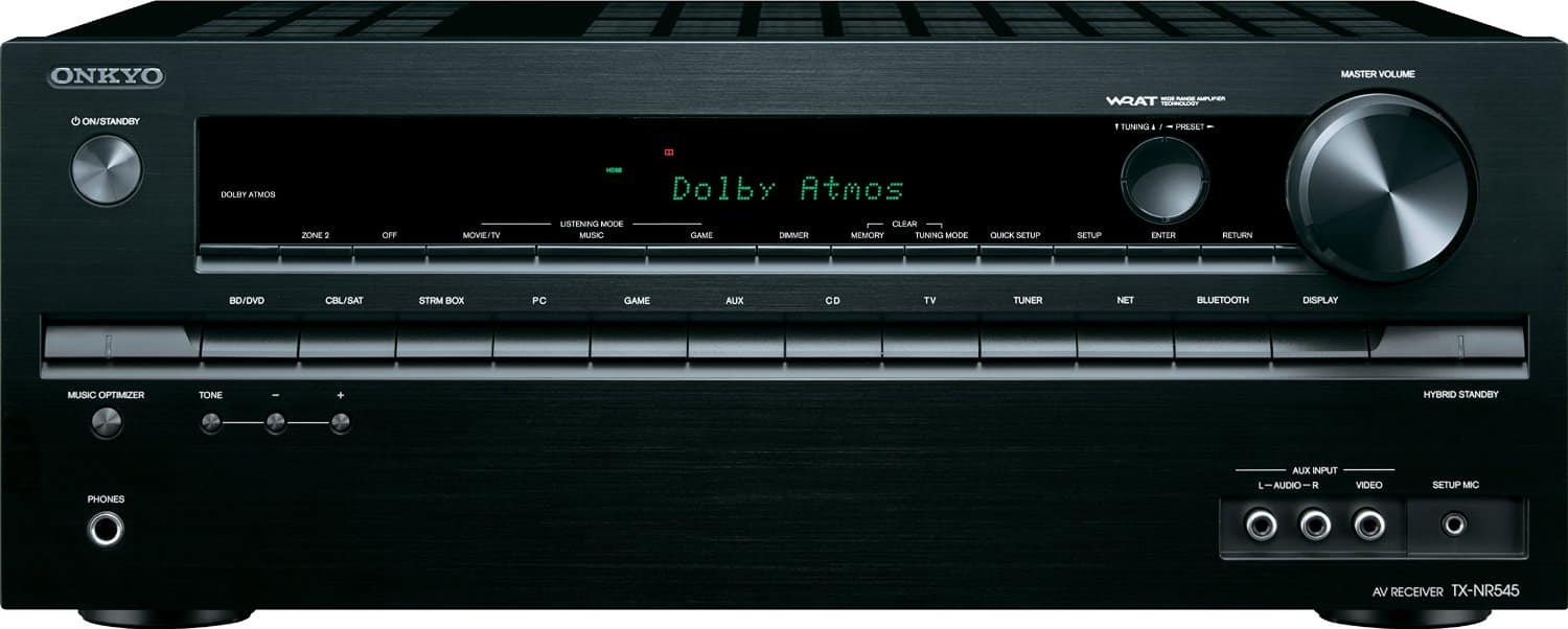 Onkyo Dolby Atmos Network Receiver with AirPlay, WiFi and Bluetooth $265.00 + s/h Meh