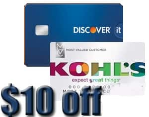 $10 Kohls Cash for Discover Card holders (Back) with 07/31/2016 Expiration Date (YMMV)