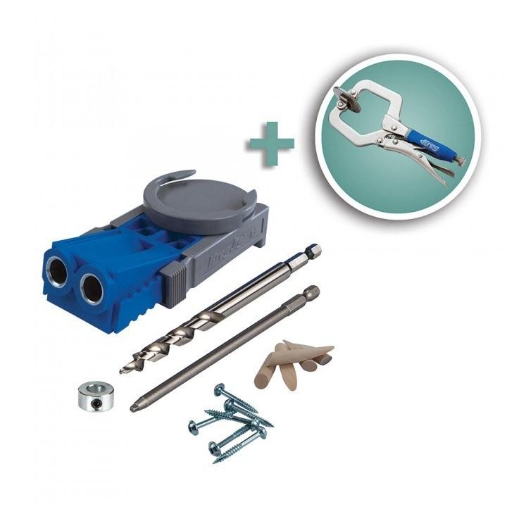 Kreg R3 Pocket Hole System + Kreg 2'' Micro Face Clamp  $39 + Free Shipping