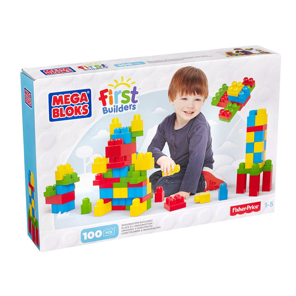 100-Count Mega Bloks First Builders Imagination Building Set (Pink or Multi-Color) $11 + Free Shipping w/ Shoprunner or Store Pickup