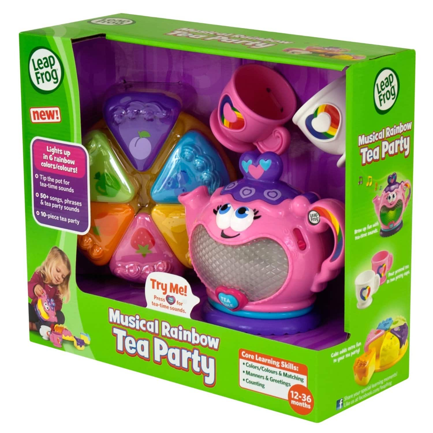 LeapFrog Musical Rainbow Tea Set $10.97 @Amazon +FS with prime