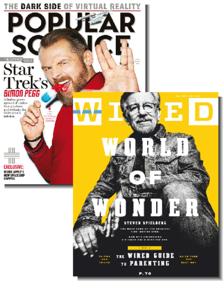 2-Magazine Bundle: Wired & Popular Science $7.99 per year