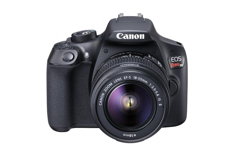 Canon EOS Rebel T6 DSLR w/ 18-55mm f/3.5-5.6 IS II Lens  $399
