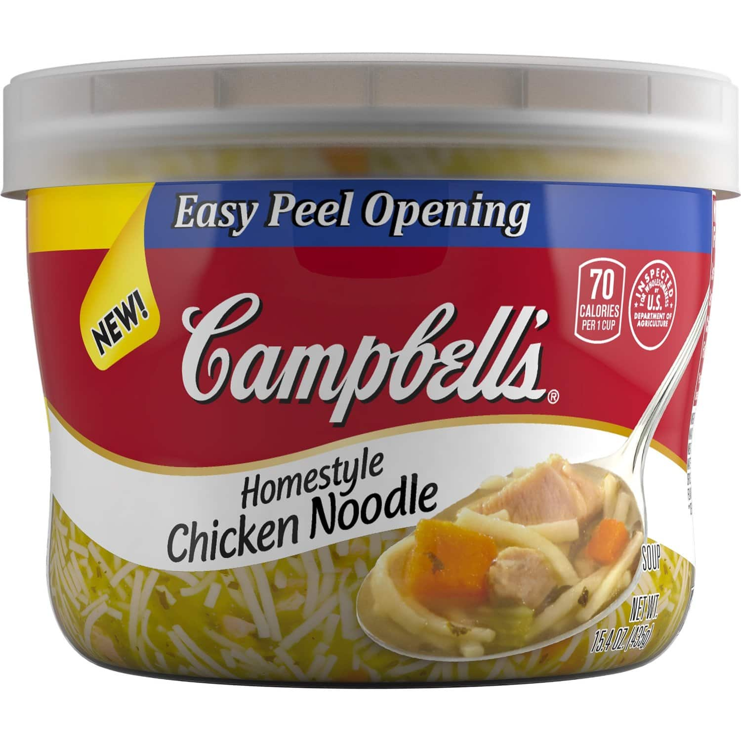 Prime Members: Campbell's Homestyle Soup, Chicken Noodle, 15.4 Ounce (Pack of 8) From $5.58 + Free Shipping