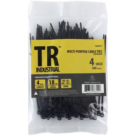 """100-Pack TR Industrial 4"""" Multi-Purpose Cable Ties  $0.66 + Free Shipping"""
