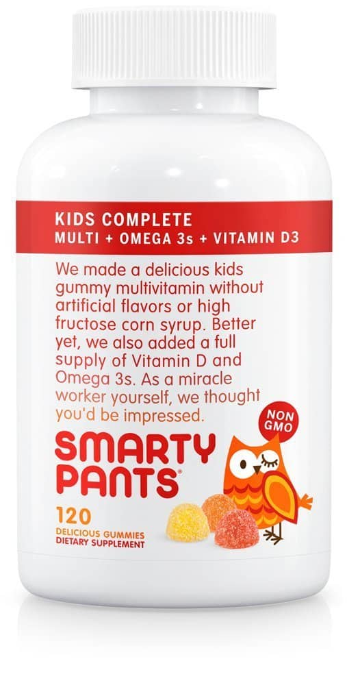 Prime Members: 120-Count SmartyPants Kids Complete Gummy Vitamins & Omega 3's  $5.75 (or less) + Free Shipping