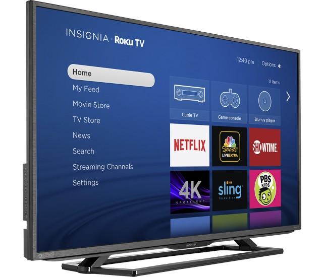 "43"" Insignia NS-43DR710NA17 4K Ultra HD Roku Smart LED HDTV $299.99 + Free Shipping"