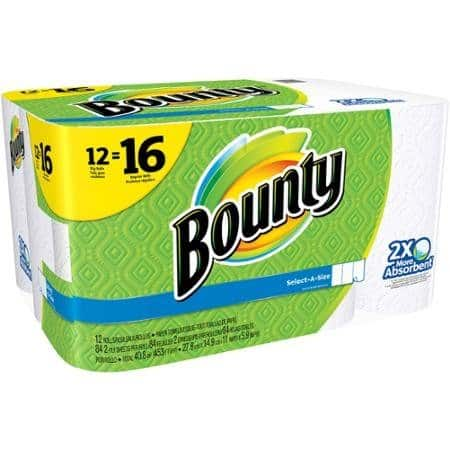 Bounty Select-a-Size Big Roll Paper Towels, 84 sheets, 12 rolls- $12.97 w/ Free Shipping
