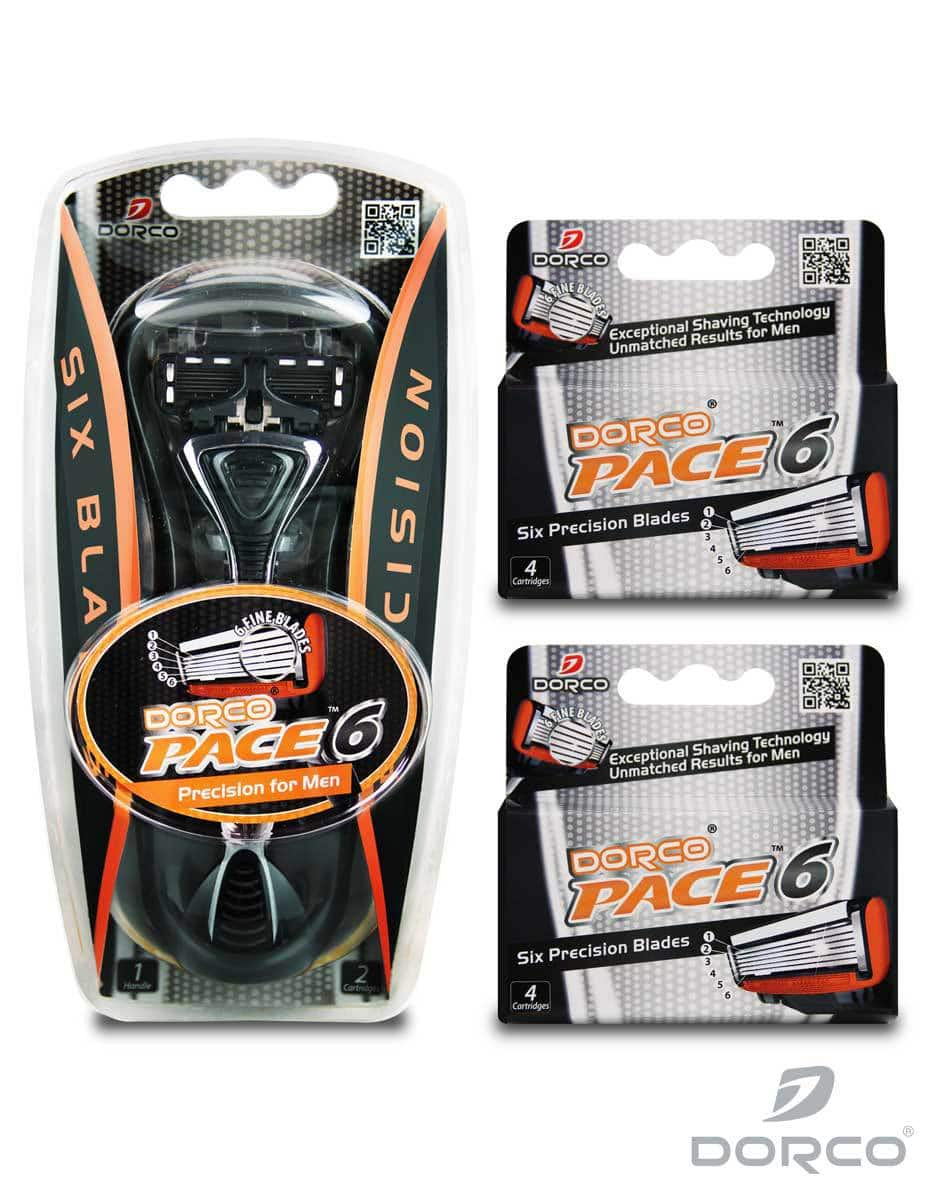 Dorco Men's Pace 6 Razor Handle w/ 10 Cartridges  $10.10 + Free Shipping