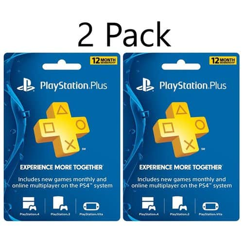 2-Pack of 1-Year PlayStation Plus Membership Card $74.99 w/ MasterPass Checkout + Free Shipping