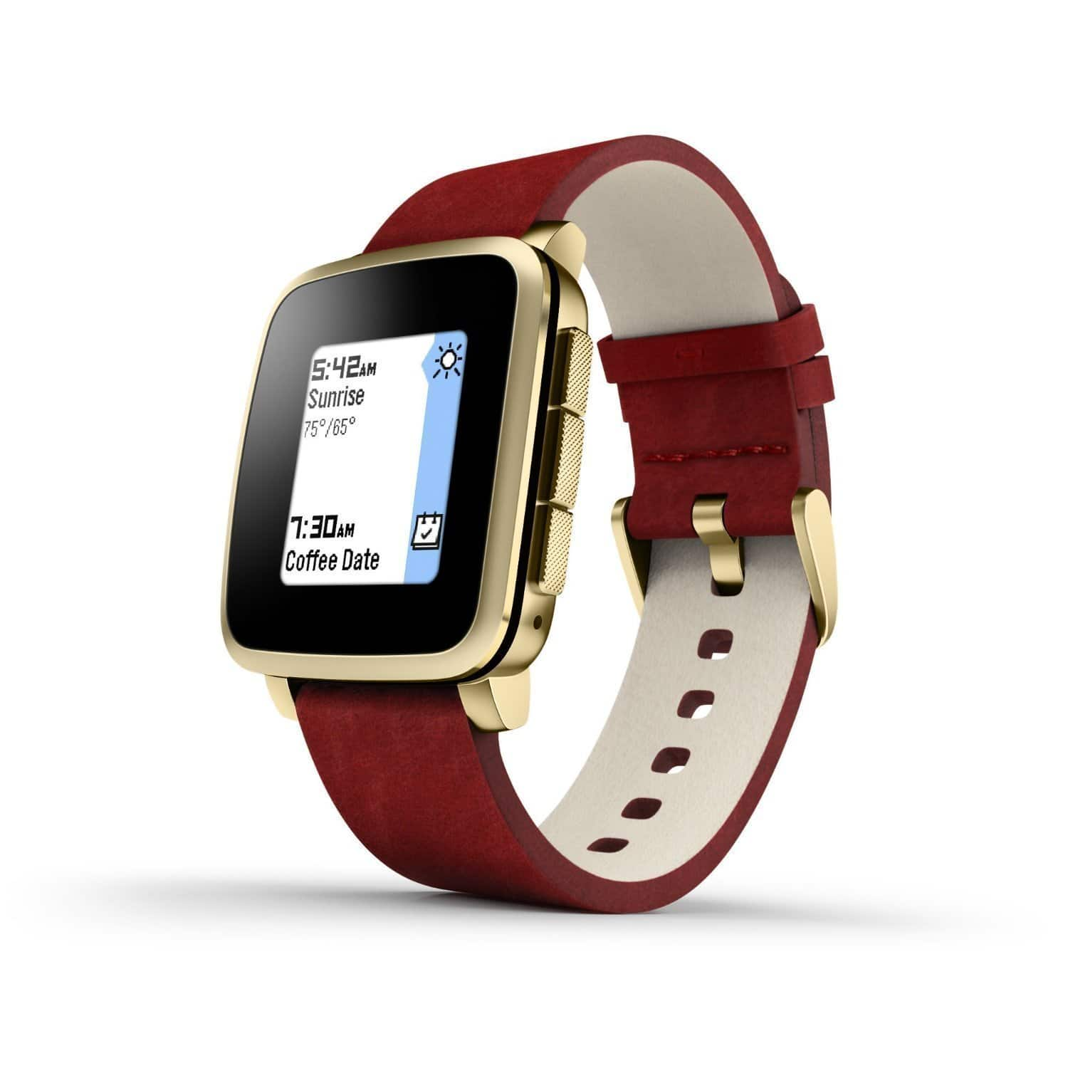 Pebble Time Steel Smartwatch for Apple/Android Devices - Gold (Certified Refurbished) For $99.99 @ Amazon​